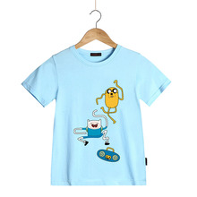 Adventure Time Finn & Jake T-Shirt for Children Boys Girls Kids Cartoon Funny Short Sleeve O Neck t shirt