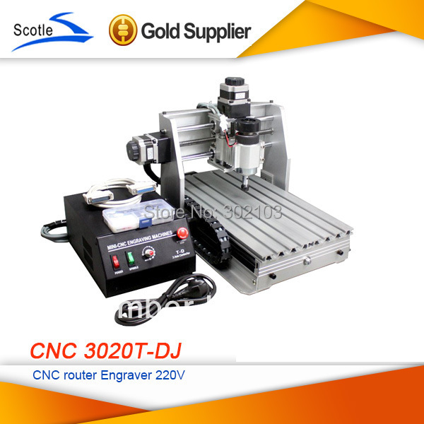 Free Shipping Mini Desktop Engraving Machine  CNC 3020T-DJ Upgrade From 3020T 3020 Router Engraver Milling Drilling Machine