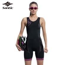 SANTIC Women Sleeveless Cycling Jerseys 2016 Sport Racing Triathlon Cycling Clothing MTB Road Bike Clothes Padded Bicycle Jersey
