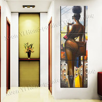 3 Panel Hand Painted Sexy Beauty Women Girls Painting Picture Canvas Art Cuadros Wall Pictures For Living Room No Frame XY039