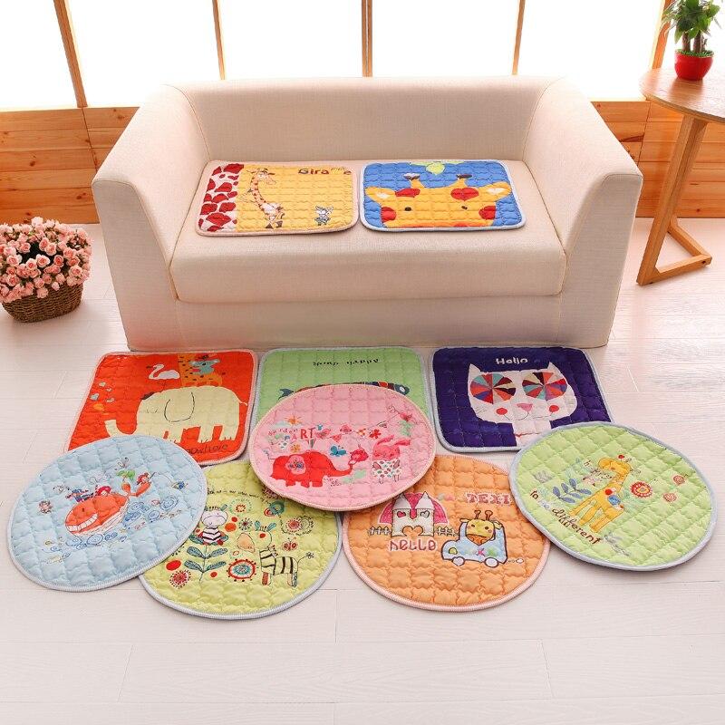 lovely cartoon print chair cushion square pad round mat 4545cm floor cushions mat cheap