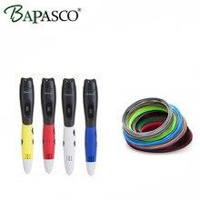 100% Originsl BAPASCO BP 06B 3D Pen+100 Meter ABS Filaments 3D Doodler DIY Drawing Tools For Kids Best Education 3D Printing Pen