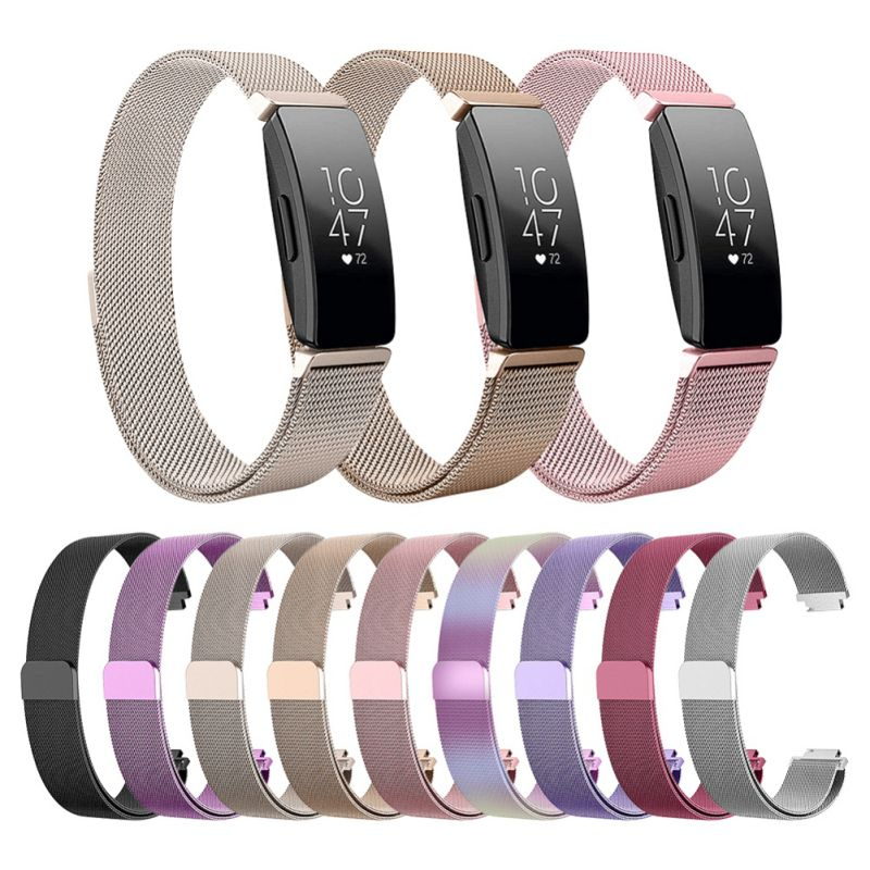 Strap Bracelet Fitbit Inspire Hr/ace2-Band Milanese Loop Stainless-Steel for Replacement