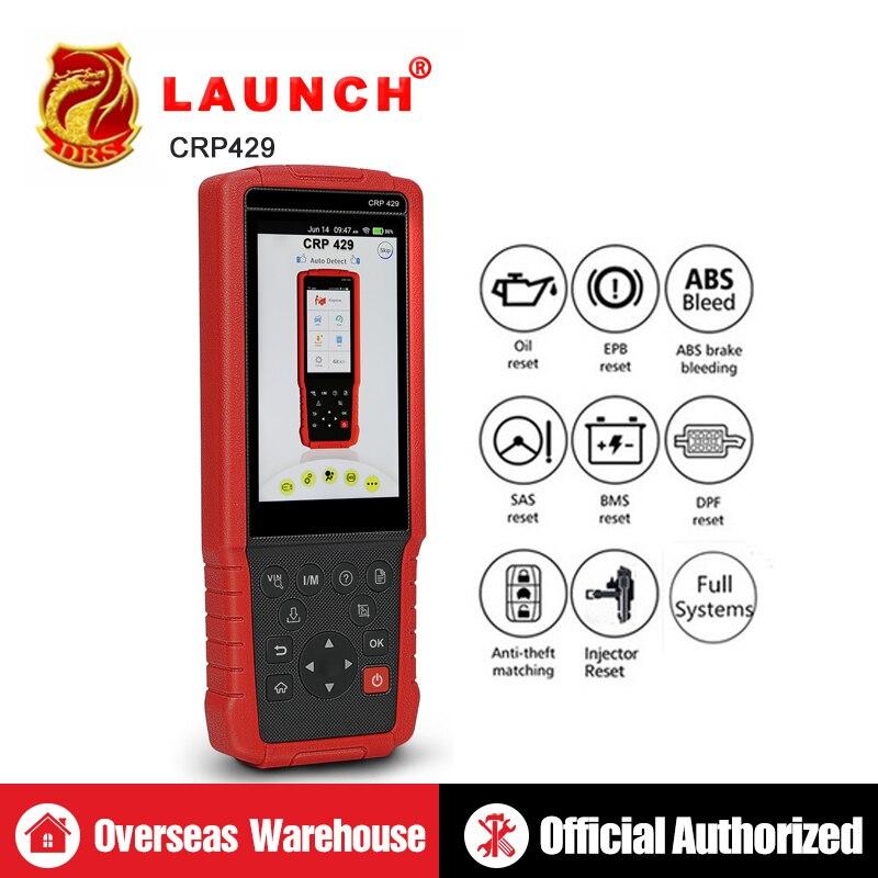 OBDII Ferramenta De Diagnóstico de LANÇAMENTO X431 CRP429 Todo o Sistema OBD2 Ferramentas de Scanner Automotivo Lançamento Leitor de Código de Auto Scan Tools PK crp429c
