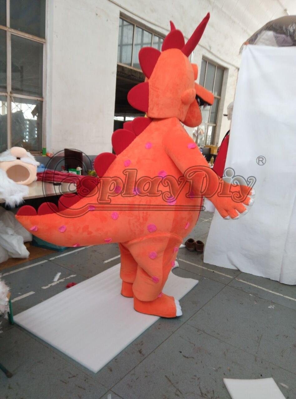 CosplayDiy mascotte Costume monstre Curry Dragon dessin animé mascotte unisexe Halloween fête de noël Costumes mascotte sur mesure - 5