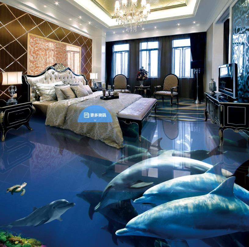 US $27.72 56% OFF Fototapete Anpassen 3d bodenbelag Badezimmer wohnzimmer  Schlafzimmer selbstklebende Tapete delphin Wohnkultur Vinyl böden-in  Tapeten ...