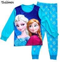 Pijama эльза infantil установить девочки весна пижамы бренд осень хлопок мультфильм