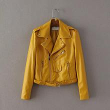 2016 Mujer Women Leather Jacket Xdg100 And The Wind Zipper Bright New Ladies Leather Coat Jacket Women