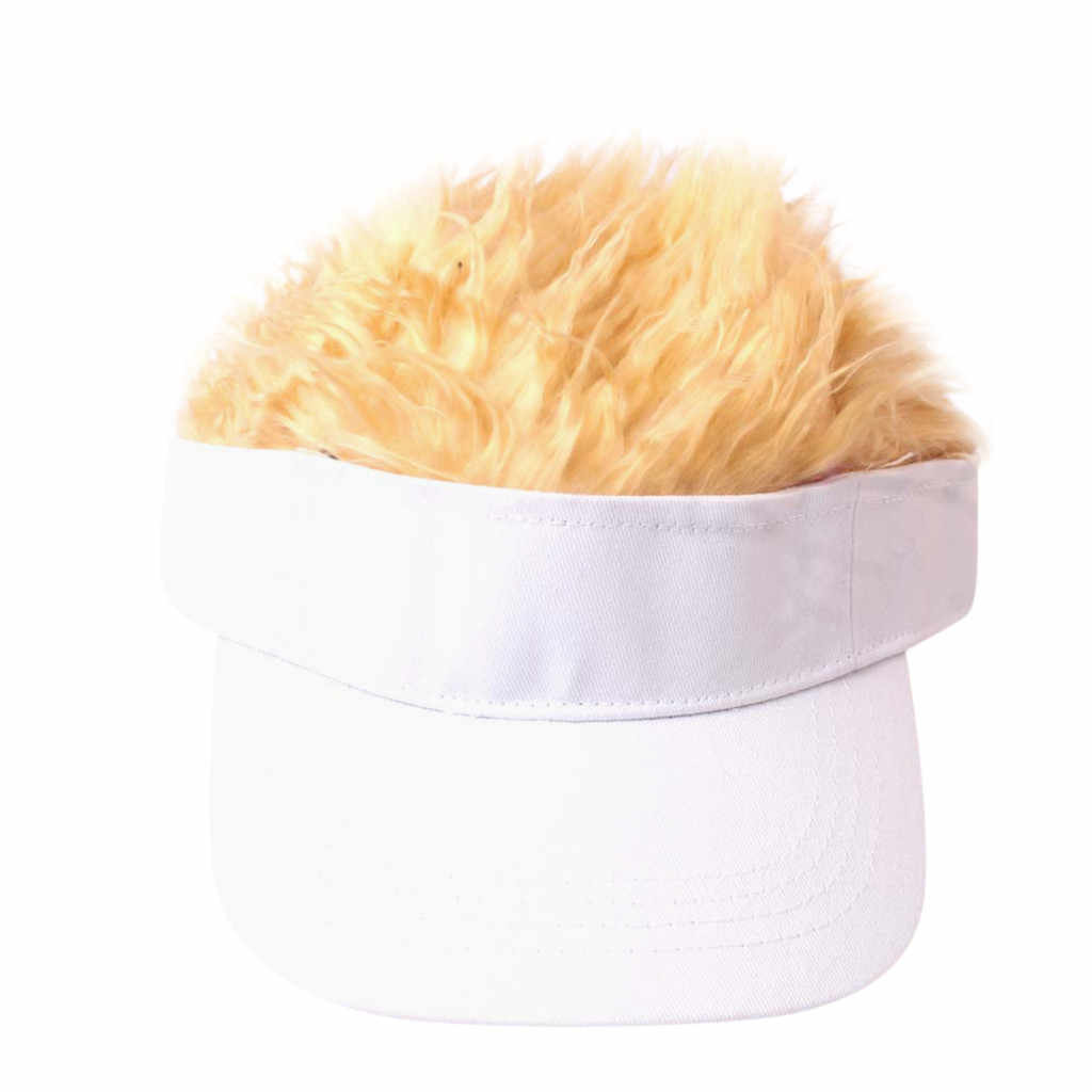 Child Wig Solid Color Baseball Cap Hip Hop Versatile Sun Hat Cap Visor