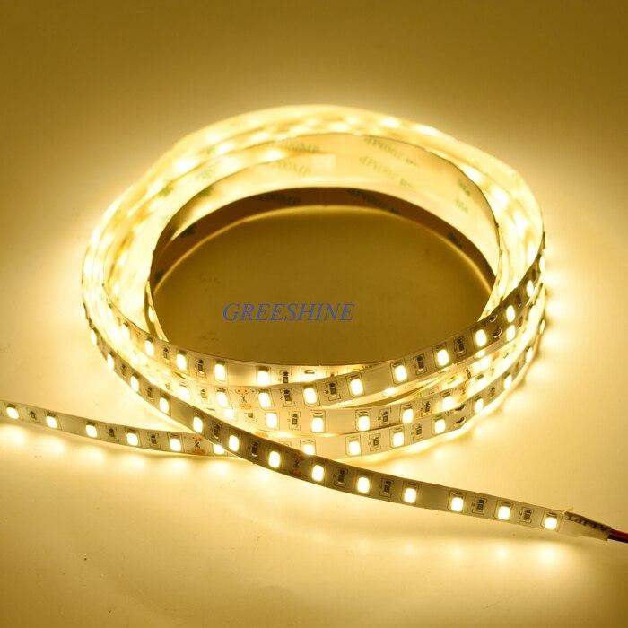 72leds/M 20W/M DC 24V SMD LED Strip Light 5M 5730 led cabinet light 50-55LM/led 360leds/5M/Reel Kitchen Light Free Shipping