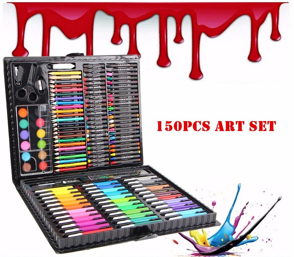 150pc set Children Colors pencil Drawing Artist Kit Painting Art Marker pen Set Color Pen Paint