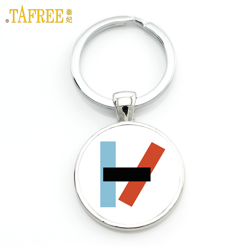 TAFREE Twenty One Pilots keychain Music Band fans men women Graphic pendant for key metal jewelry key holder H257 цены онлайн