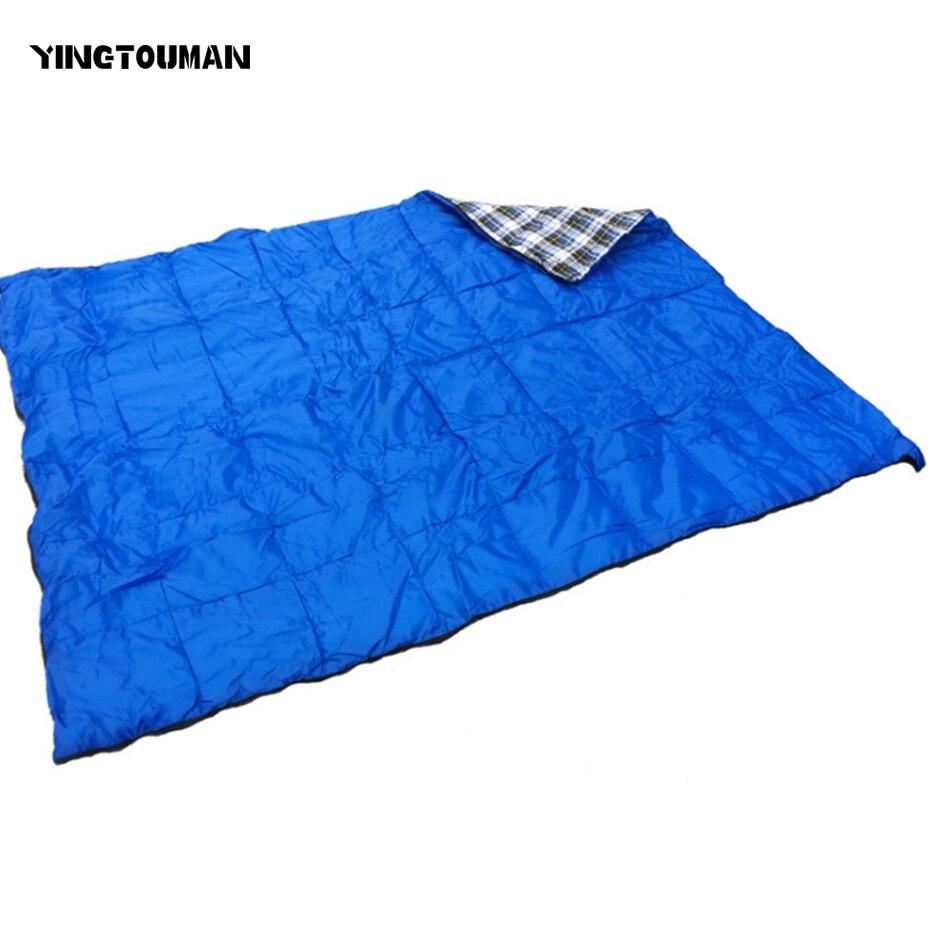 YINGTOUMAN 1.4KG Outdoor Camping Hiking Ultralight Sleeping Bag Tent Travel Waterproof Splicing Double Sleeping Bags цены онлайн