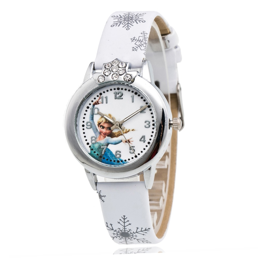 Amassan Cartoon Children Watch Princess Elsa Anna Watches Girl Kids Student Cute Leather Sports Analog Wrist Watches Relogio 2016 new relojes cartoon children watch princess elsa anna watches fashion kids cute relogio leather quartz wristwatch girl gift