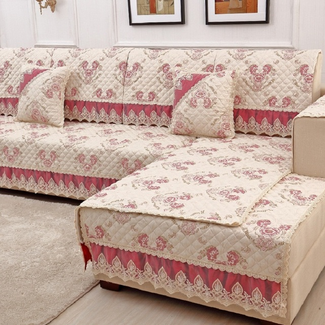 European Four Seasons Lace Combination Sofa Cushion Stretch Furniture  Covers Sofa Cover Covers On The Corner