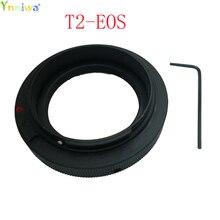10 pçs/lote T2 T Montar Anel Adaptador de Lente para a Canon EOS T2 EOS 5D 7D 50D 60D 550D 500D 600D 700D 1000D 1200D T5i T4i T3i T2i T1i