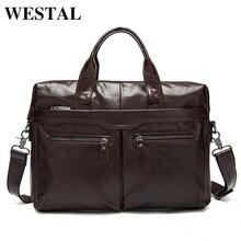 WESTAL натуральная кожа винтаж мужская черная сумка мужчины сумка для ноутбука мужчины дорожные сумки портфель портфель сумка мужская портфели портфель мужской сумки мужские сумки натуральная кожа сумка для ноутбука