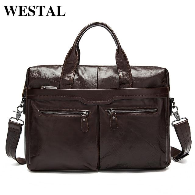 Aliexpress.com : Buy WESTAL Men Bag Genuine Leather Bag Men ...
