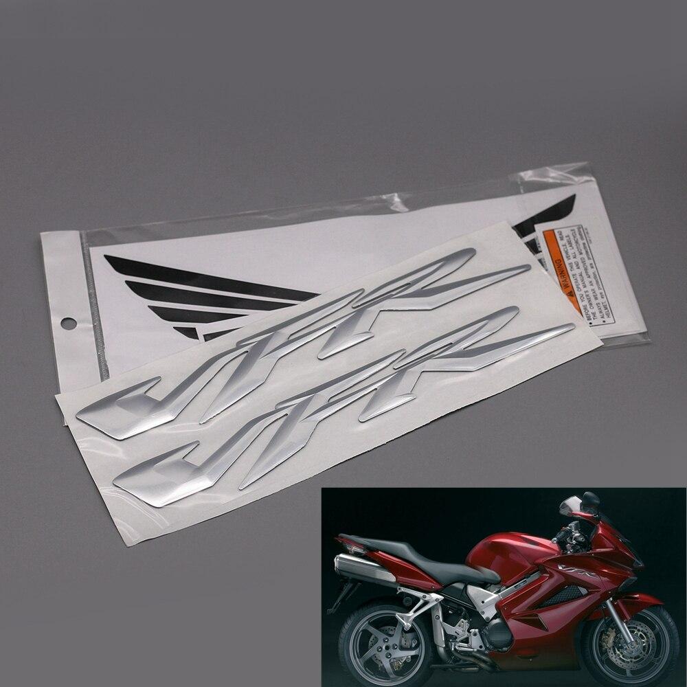 Moto 3D Soulevées VFR Autocollants Pour Honda VFR 400 800 1200 Moto Carénage Corps Côté Décoratif Stickers Emblème Badge NOUVEAU