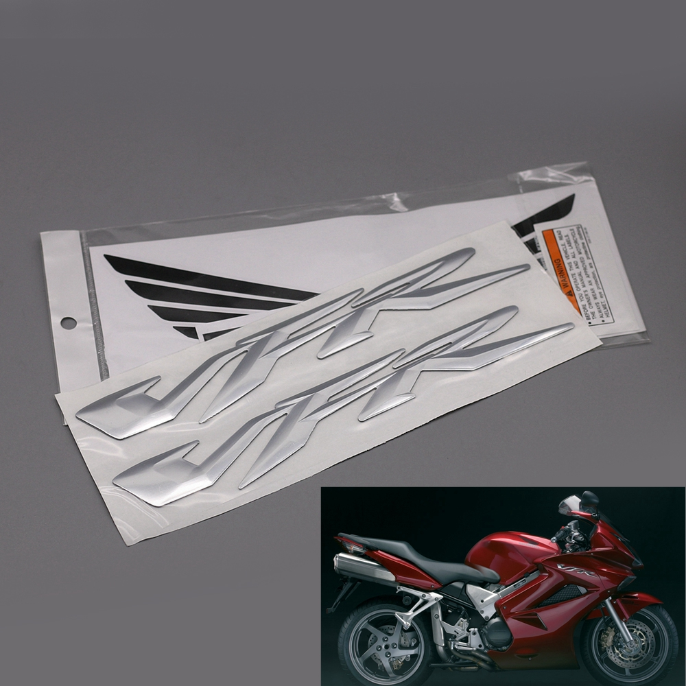 Motorcycle 3D Raised VFR Stickers For Honda VFR 400 800 1200 Motorbike Fairing Body Side Decorative Decals Emblem Badge NEW image