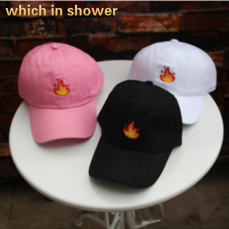 which in shower fashion embroidered fire dad hat for women men adjustable cotton summer snapback male hat   baseball     cap   female