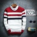 Coletes De Malha Suéteres casuais Maré Camisa Dos Homens Com Veados para o Outono de Gola Alta de Lã Pullovers Malhas Camisola Jumper Masculino