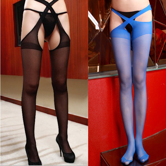 2017 High Quality Fashion summer style Sexy stockings Pantyhose Lace open crotch stockings for Women free shipping