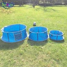 Kidoozie Børn Blå Sport Foldes Med Blæser Opblåsbare Bold Pool Udendørs eller Indendørs