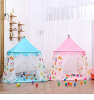 Children's Castle Tents Teepee Boys And Girls Play Tents Ball Pool Play House Children Small House Portable Folding Baby Tent