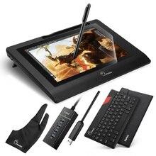 Parblo coast10 10.1 дюйм(ов) графический монитор ж/беспроводной и батареи без ручки + ультратонкий 4 мм bluetooth клавиатура + графический протектор