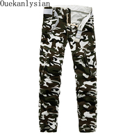 New Multi Pocket Military Pants For Men Camouflage Army Athletic Pants Casual Loose Baggy Camo Cargo