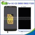 Белый Черный для LG Optimus G2 D800 D802 D805 F320 ЖК-Дисплей и Сенсорный Экран Digitizer Ассамблеи + Рамка шатона Бесплатная Adhensives