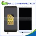 F320 preto branco para lg optimus g2 d800 d802 d805 display lcd e touch screen digitador assembléia + moldura quadro livre adhensives