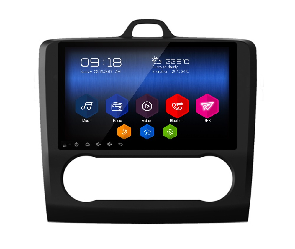 9 otojeta android 6.0.1 car DVD multimedia for FORD Focus Mondeo auto AC stereo autoradio car stereo head units tape recorder