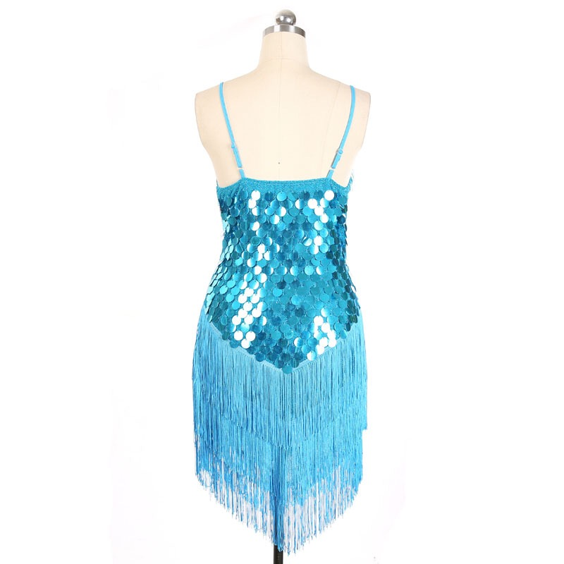 SexeMara New V Neck Glitter Sequins Tassel Decorated Christmas New Year  Dress Latin Dance Dress Vintage Gatsby Dress-in Dresses from Women s  Clothing on ... 535038679d7a