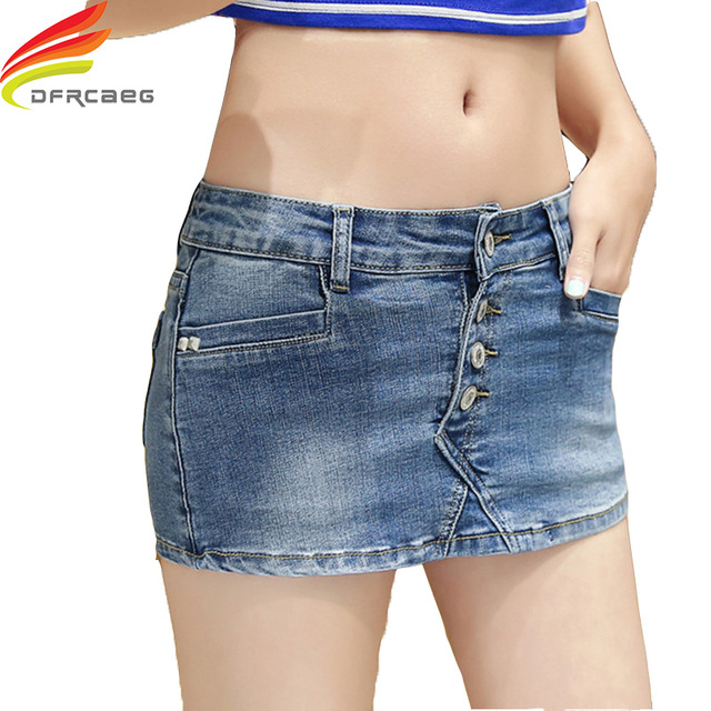 e83aee2442a4f Denim Skorts Shorts Skirt Woman 2018 New Fashion Double Button Slim Sexy  Ladies Shorts Jean Plus Size S-3XL Short Jeans