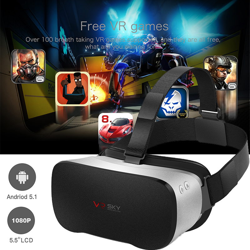 Best VR BOX CX-V3 All In One Headset VR Immersive 3D Glasses Virtual Reality Helmet wifi+BT4.0 CPU H8 1080P FHD for movie player 2017 fancyman 3d vr box all in one headset cpu rk3288 vr glasses screen ips 5 5inches tft 2k 2560 1440 pix with mini hdmi wifi