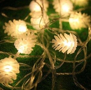 Image 4 - Guirlande en pin, 5M, 20 LED cordes pour arbre de noël, décorations de mariage, pour maison, plusieurs couleurs disponibles