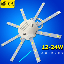Fluorescent Ceiling Lamp 12W 16W 24W 220V PCB Board Modified Light Source Led Bulb Plate Octopus Tube Energy Saving Lamp Plafon