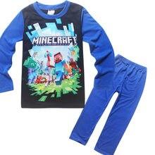 50d02f573 2018 Minecraft Dziewczyny Boys Baby Odzież Casual Garnitury piżamy  nightclothes dla Chłopców Dziewczyny nightshirt Wiosna Jesień