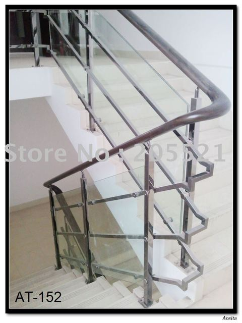 Stainless steel rail for concrete  stair with factory price