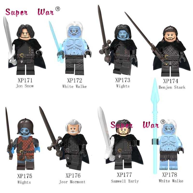 Single Game of Thrones Ice and Fire Jon Snow Stark White Walke Jeor Mormont Sam building blocks model bricks toys for children