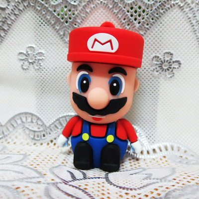 New 3D Cartoon Figure Super Mario Pen Driver 2.0 USB Memory Flash Card Pen Drive 16GB 32 ...