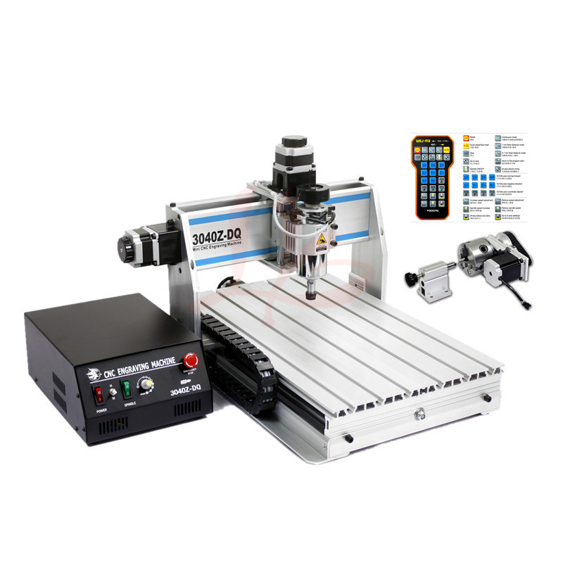 CNC Engraving machine 3040Z-DQ USB port Ball Screw PCB ER11 collet cnc Router 4030 300W