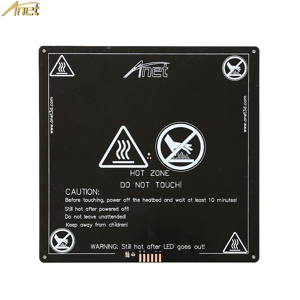 Anet 1PCS black MK3 heatbed latest Aluminum heated bed MK2B Upgraded MK2A for Mendel RepRap 3D printer Hot-bed Support 12V anet a6 a8 mk3 12v heatbed aluminum heated bed 220mm 220mm 3mm mk2b & mk2a for mendel reprap i3 3d printer hotbed with cable
