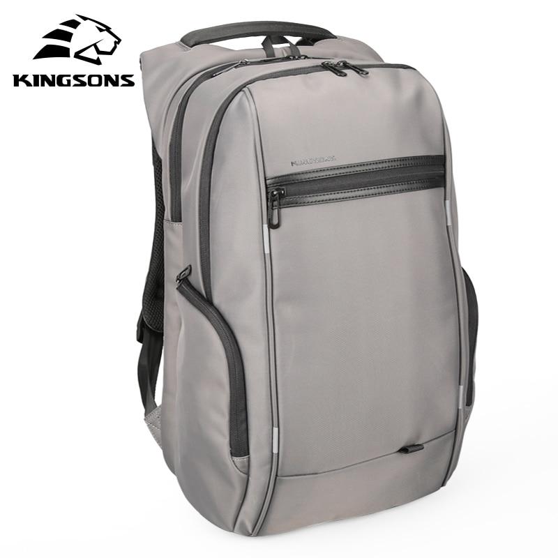 Kingsons 13 Inch External USB Charging Men's Backpack for Computer Bag Women Backpacks Waterproof Anti theft School Bag-in Backpacks from Luggage & Bags    1
