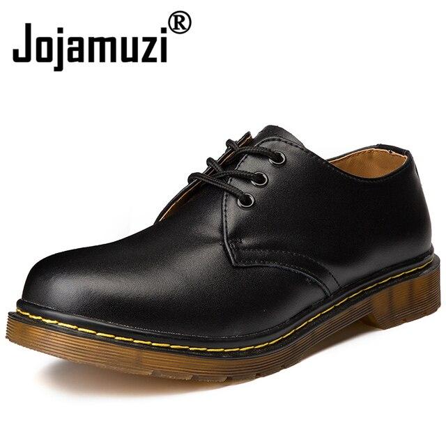 Marka erkek botları artı boyutu 36-45 yeni Martens rahat deri Doc Martins çizmeler erkek askeri ayakkabı çalışma emniyet ayakkabı