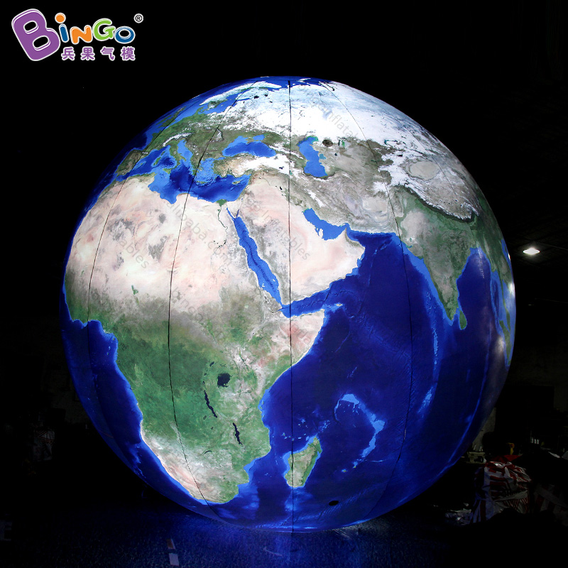 6 meters giant inflatable earth ball / air-blown Earth direct remote control / LED lighting inflatable earth globe toys цена