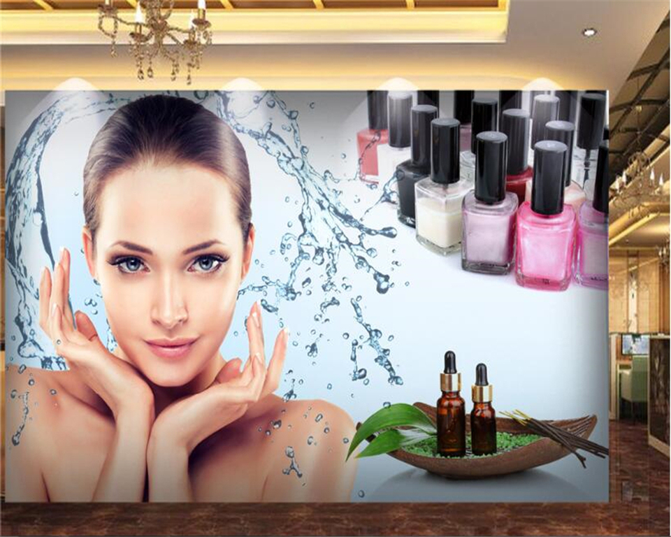 Beibehang Fashion Personality Decorative Wallpaper Beauty Salon Beauty Skin Care Tooling Background Papel De Parede 3d Wallpaper 3d Wallpaper Fashion Wallpaperwallpaper Fashion Aliexpress