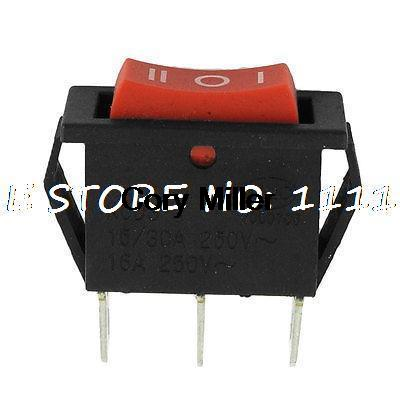 250VAC 16A 3 Terminals SPDT 3 Positions Rocker Switch for Hot Air Gun 660v ui 10a ith 8 terminals rotary cam universal changeover combination switch